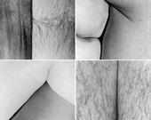 Light body Lines series set of 4 photographs