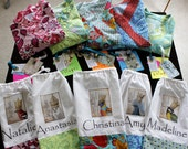 Set of 6 Medium Length Kimono Robe - Bridesmaids Robe