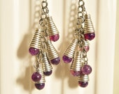 Vintage Purple and Silver Capped Beads