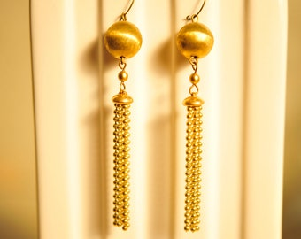 Handmade Vintage Ball Chain Earrings