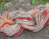 Spice Market cocoons-handspun naturally dyed art yarn