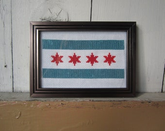PATTERN Chicago Flag Cross Stitch Instant Download PDF pattern