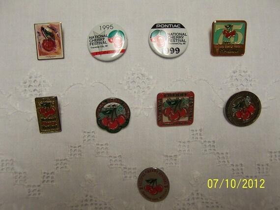 Vintage National Cherry Festival Pins (Lot 76)