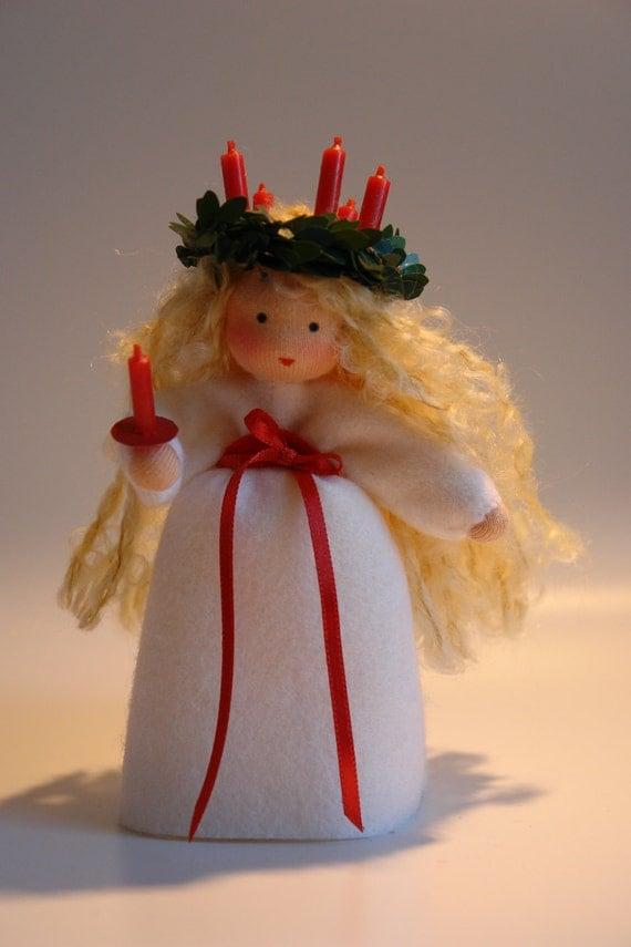 Santa Lucia  -Christmas- Flower Child - Waldorf  Inspired