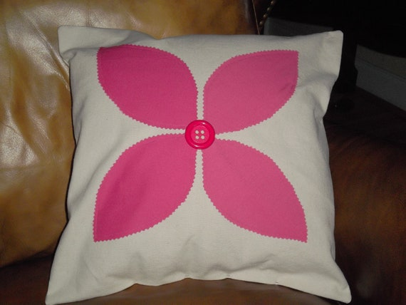 ON SALE!!Flower Pillow 14 X 14 pillow form included