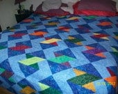 Crazy Eights-King size reversible quilt