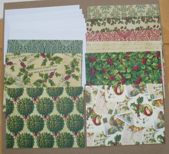 SALE Create / Make your own Christmas Cards 9 The Paper Studio Folding Cardstock Cards with White Envelopes