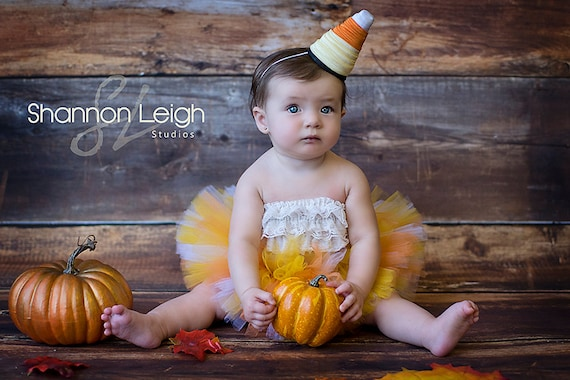 Baby Halloween Costume Sweet Candy Corn Cutie Tutu Halloween Tutu With Matching Hat A Sweet Sweet Boutique ORIGINAL design