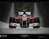 Fernando Alonso Ferrari F10 Limited Edition Art Print from an original painting