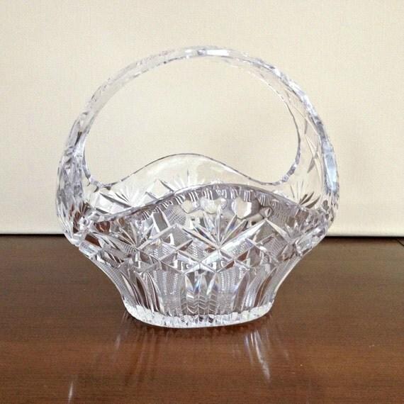 Hand Cut Crystal Basket