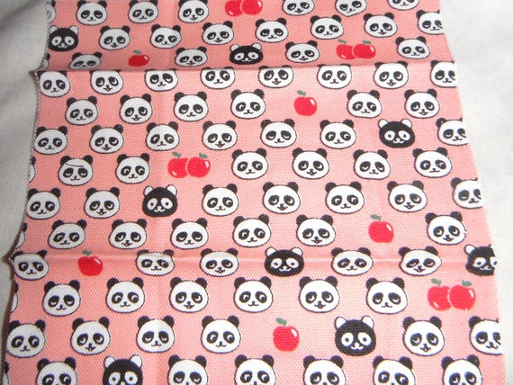 Kawaii Panda Japanese cotton fabric scrap