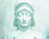 St Joan of Arc Photo10x10 Fine Art Photography Print. Pale Blue Dreamy Soft Ethereal