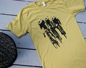 Cycling T Shirt, Three Bears Riding Bikes, Organic American Apparel, S/M/L/XL