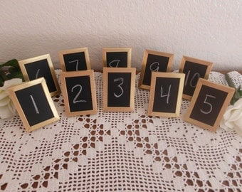 Wedding Table Number Set Gold Chalkboard Sign Rustic Shabby Chic Blackboard Paris French Home Decor Reception Decoration