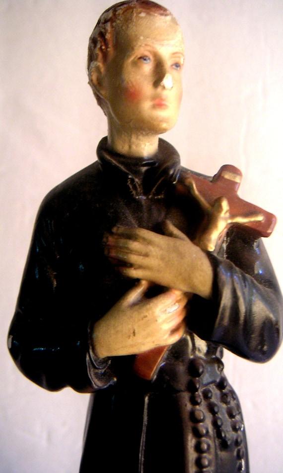 Vintage Statue of Saint Gerard. Patron Saint of Expectant Mothers