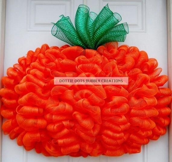 3-D Halloween Orange Mesh Pumpkin (Custom Listing)