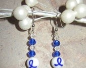 Special Posting for Mandi Lynch - Blue Awareness Dangle Earrings