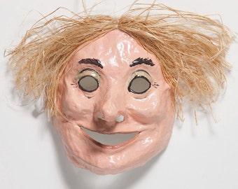 Paper mache woman mask