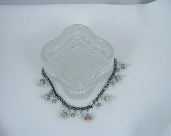 Black and Silver Bead Bracelet