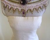 AMAZING 1950s Custom Couture MR BLACKWELL Pale Pink Rhinestone Encrusted Bombshell Plunge Halter Wiggle Dress - Glamour Designer Curves
