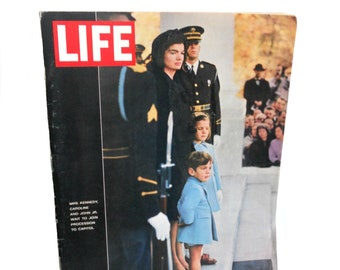 Vintage Life Magazine Kennedy Family and Nation Lay President Kennedy to Rest - December 6, 1963 - Vol.55 No.33