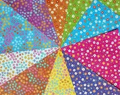Double Sided Origami Paper - Plain & Floral  Patterns I - 20 Sheets