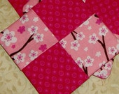 Pretty in Pinks Patchwork Fabric Coaster Set of 4