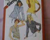 1981 Uncut  Simplicity Pattern 5147 Misses  Pullover Tops and Cardigan   Size  16