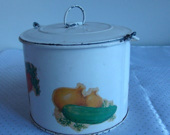 Vintage Pail with Decals