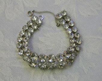Vintage Eisenberg Ice Rhinestone Bracelet