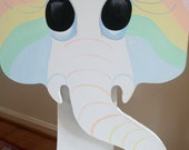 Rainbow White Elephant Chair