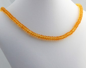 Citrine Necklace, Gemstone Necklace, Citrine Jewelry, Sterling Silver and Citrine Choker