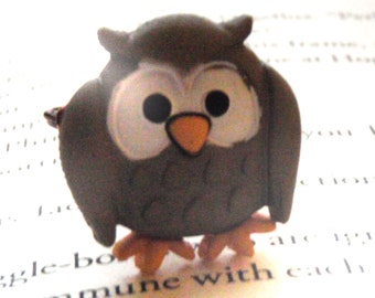 Owl Button Wire Wrapped Ring