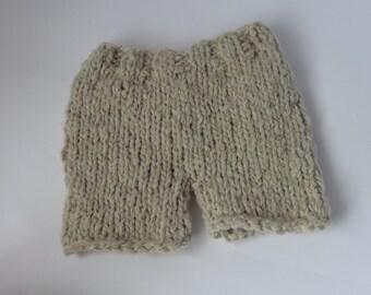 Newborn Knit Diaper Cover / Baby Girl Diaper Cover / Newborn Boy's Diaper Cover / Infant shorts / Baby Shorts / diaper cover photo prop