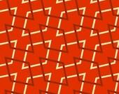 FQ OVERSTOCK - Retro Geo Orange From Marcus Fabrics