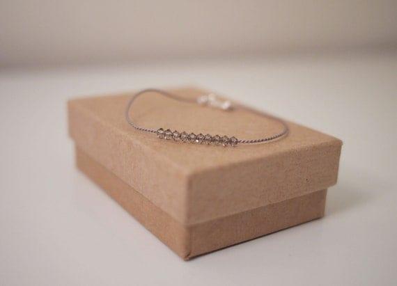 Swarovski Crystal Beads Silk Cord Bracelet