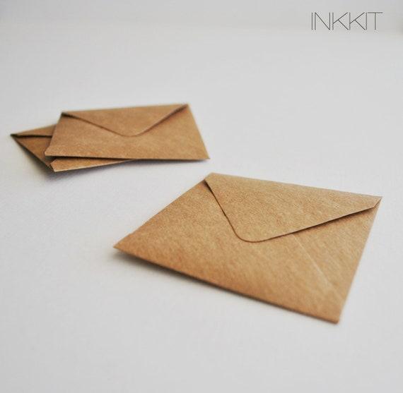 itty brown kraft square envelopes (10 envelopes)