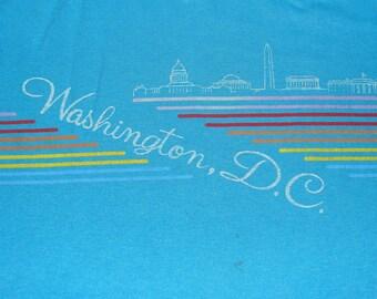 Vintage 80s Washington DC Blue T Shirt