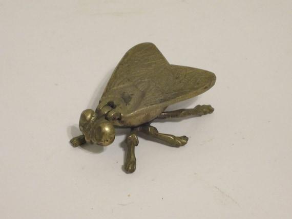 Vintage Brass Fly Trinket Box