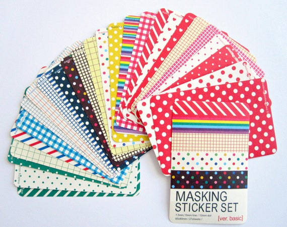 Masking Sticker Set : Dots & Stripes