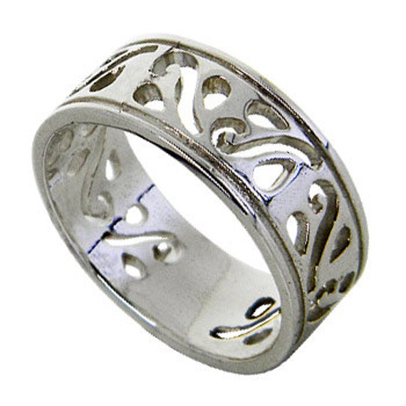 Band 925 Sterling Silver Ring (OP 755 )