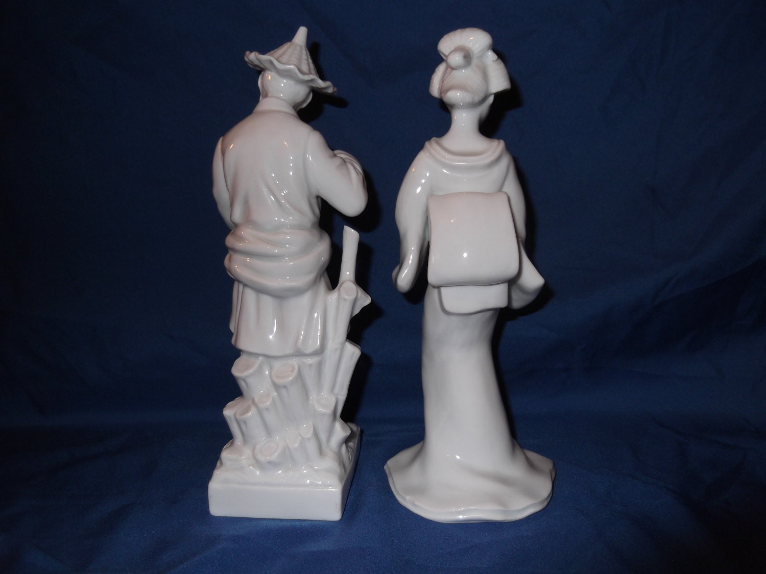 Vintage Fitz And Floyd Asian Oriental Figurines Set Of 2