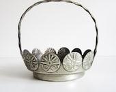 Silver Dish, use for home decor or kitchen decor