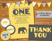 Elephant Birthday Party Suite Printables