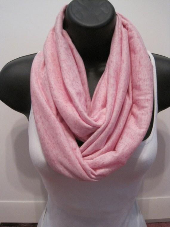 New Pink Stretch Knit Infinity Scarf