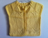 Knitting Yellow Toddler Baby Vest, Knitting Toddler Clothing, Size: L 2T, Usa Seller - zahraknitting