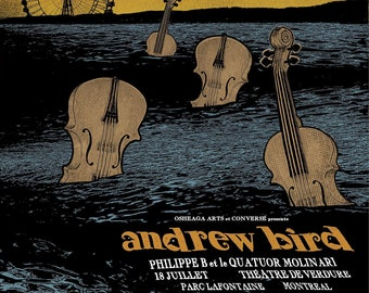 ANDREW BIRD  Limited Edition silk screened poster