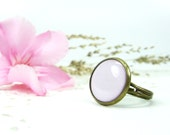 White Ring - Adjustable Ring - Pink Ring - Rings Jewelry - Fashion Ring - Free Shipping (0-3R)