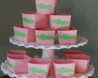 Pink Alligator Candy Cups, Alligator Theme, Alligator Baby Shower, Alligator Birthday, 12 Pcs, Pink Alligator