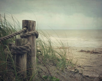 To the Sea, Blue, Sand, Tan, Brown, Beach, Nautical, Ocean, Home Decor, Fine Art Photograph, Print, Spring, Summer